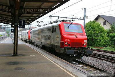 37513 & 37505 pass Aix-les-Bains-Le Revard light engine (Southern France)  04/06/14