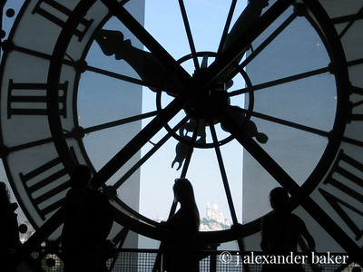 In Time - Musee D'Orsay Clock with Sacre Coeur in the distance - lighter version