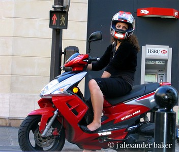 Red Scooter Madamoselle