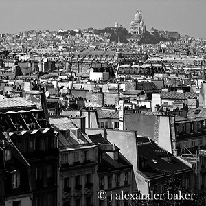 View of Sacre Coeur from Pompidou Center