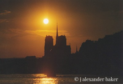 Sunset on the Seine - 35mm slide, need to redo this slide scan