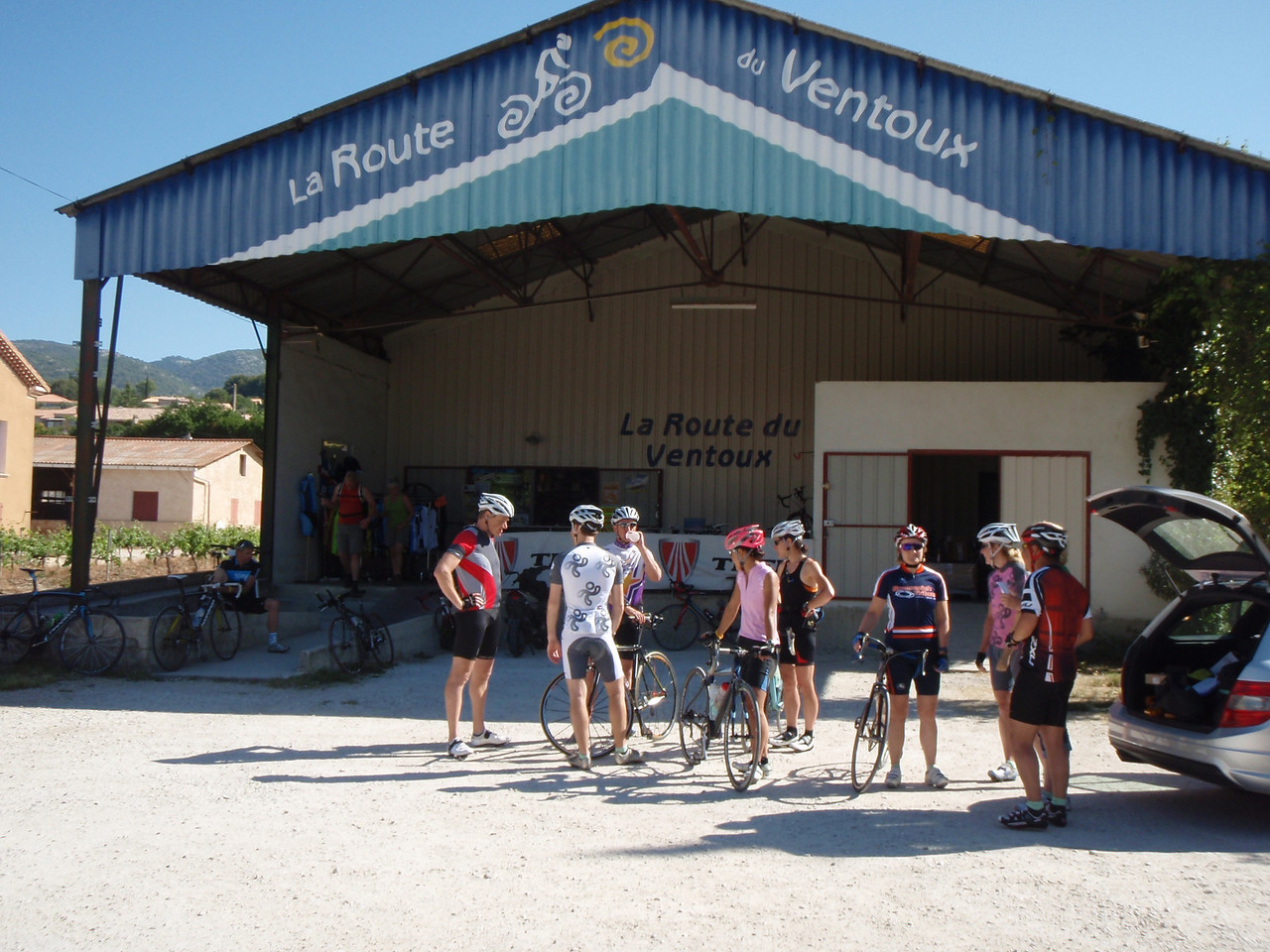 The Bike shop in Bedoin where we rented bicycles.  Quite the scene.