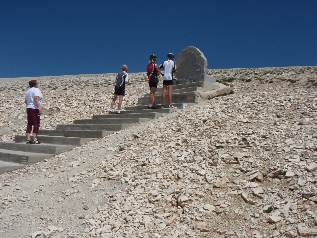 The Simpson Memorial on the way up.