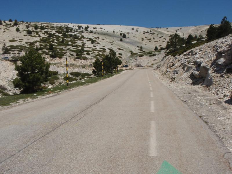 The barren upper slopes.