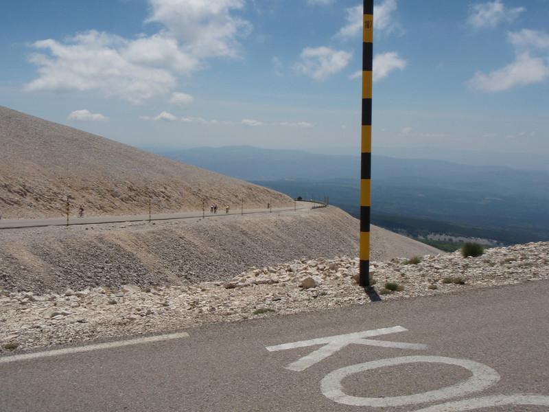 The really barren upper slopes.