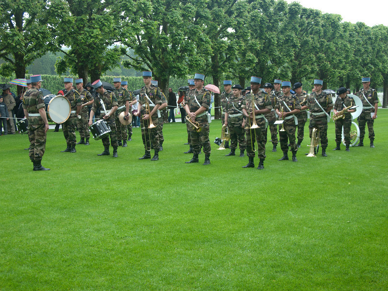 French Military band at the Memorial Day ceremony at the American Cemetery.
