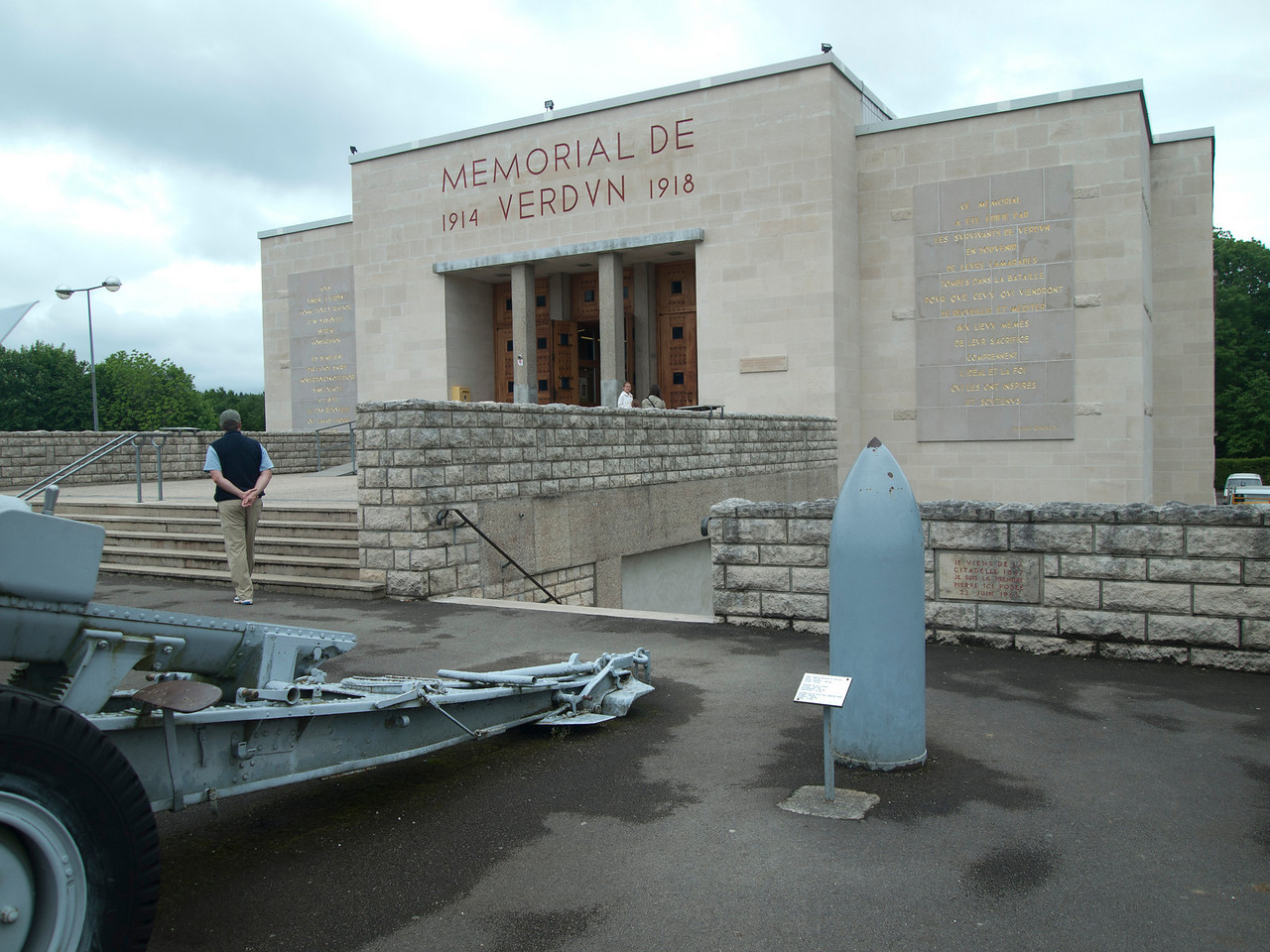 Mike entering the Verdun memorial museum