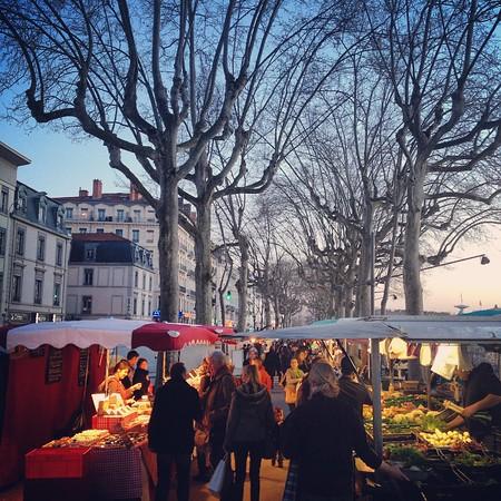 Fresh Market in Lyon, France