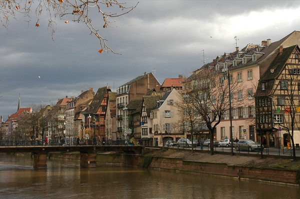 River Ill in Strasbourg, France
