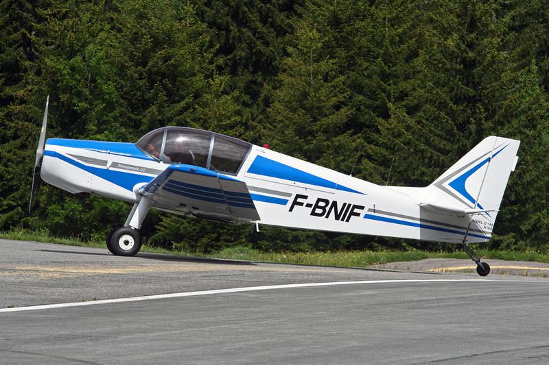 F-BNIF SAN Jodel D.140C Mousquetaire c/n 168 Megeve/LFHM/MVV 13-06-07