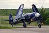F-AZXJ (115/WH589) Hawker Fury ISS c/n 37733 Dijon-Darois/LFGI 05-09-11