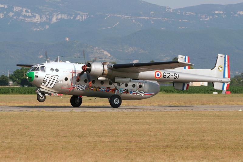 F-AZVM (105/62-SI) Nord Noratlas N.2501 c/n 2501-105 Valence/LFLU/VAF 24-06-06