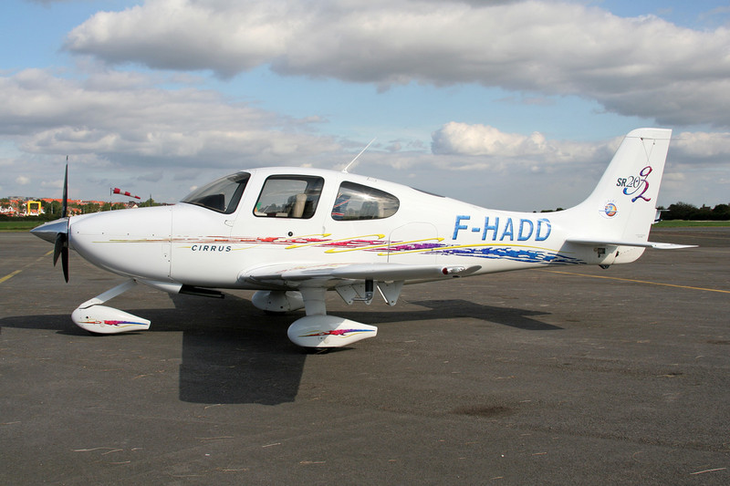 F-HADD Cirrus Design SR-20G2 c/n 1619 Le Touquet/LFAT/LTQ 09-09-07