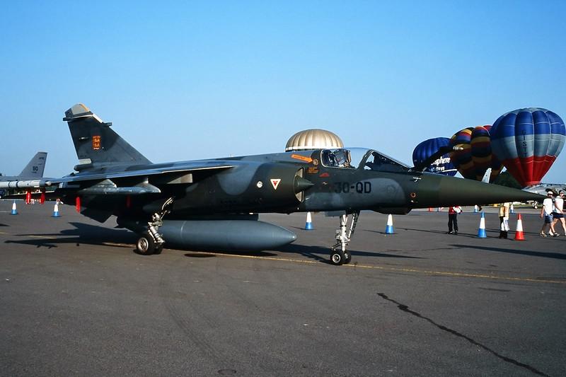 "239 (30-QD) Dassault Mirage F1 CT ""French Air Force"" c/n 239 Fairford/EGVA 25-07-99 (35mm slide)"