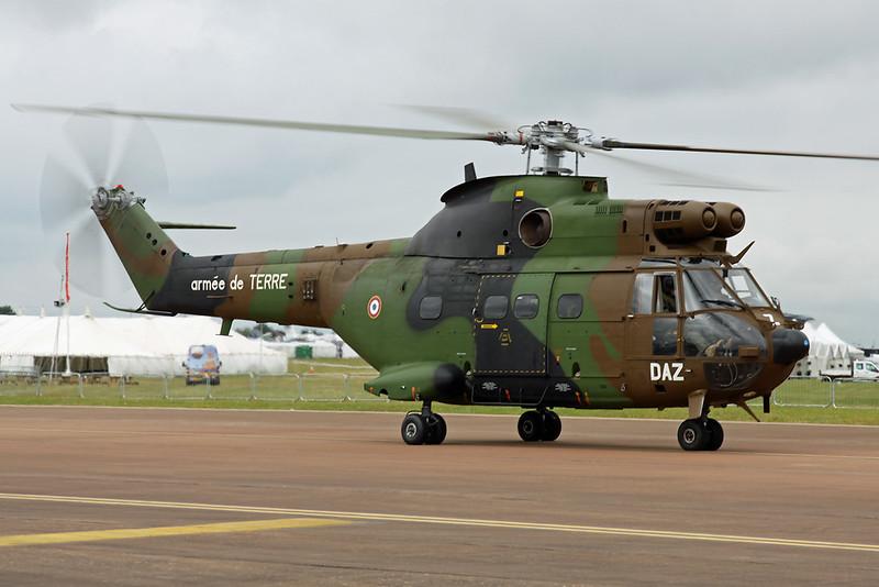 """1219 (DAZ) Aerospatiale SA.330Ba Puma """"French Army"""" c/n 1219 Fairford/EGVA/FFD 22-07-19"""