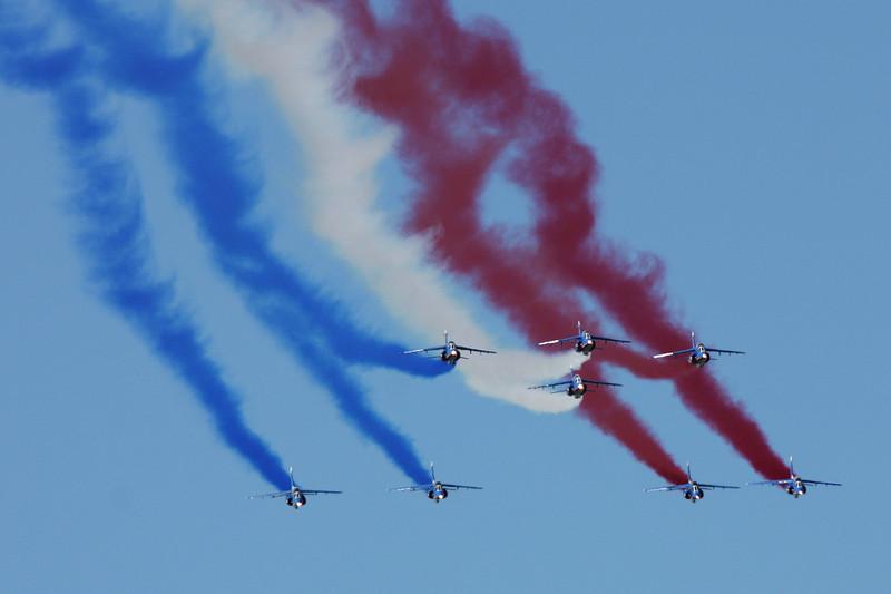 """""""Patrouille de France"""" French Air Force 8 x Alpha Jet Sarre Union/LFQU 21-06-08"""