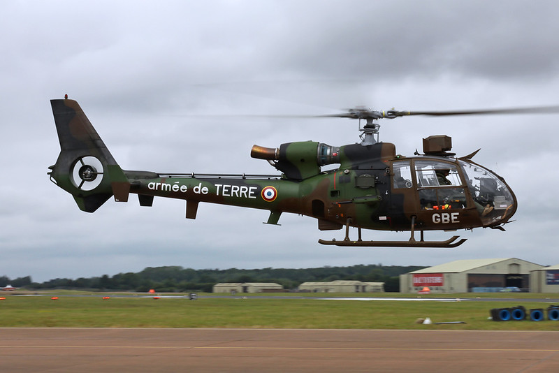 "4053 (GBE) Aerospatiale SA.342-M1 Gazelle ""French Army"" c/n 2053 Fairford/EGVA/FFD 22-07-19"