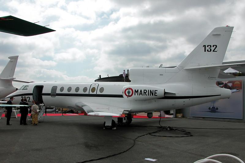 """132 Dassault Falcon 50MI """"French Navy""""  c/n 132 Paris-Le Bourget/LFPB/LBG 18-06-03"""