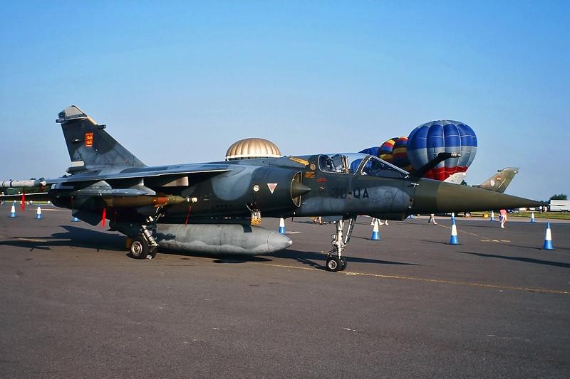 "278 (30-QA) Dassault Mirage F1 CT ""French Air Force"" c/n 278 Fairford/EGVA 25-07-99 (35mm slide)"