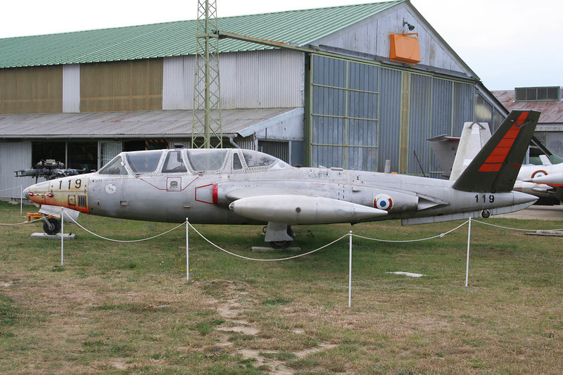 "119 Fouga CM-170R Magister ""French Air Force""c/n 119 Montelimar/LFLQ/XMR 20-07-07"