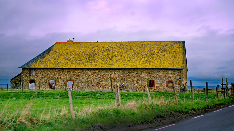 Stone Barn, near Mont-Saint-Michel, Normandy, France