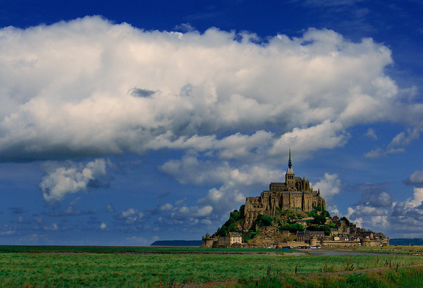 Mont-Saint-Michel, Normandy, France.