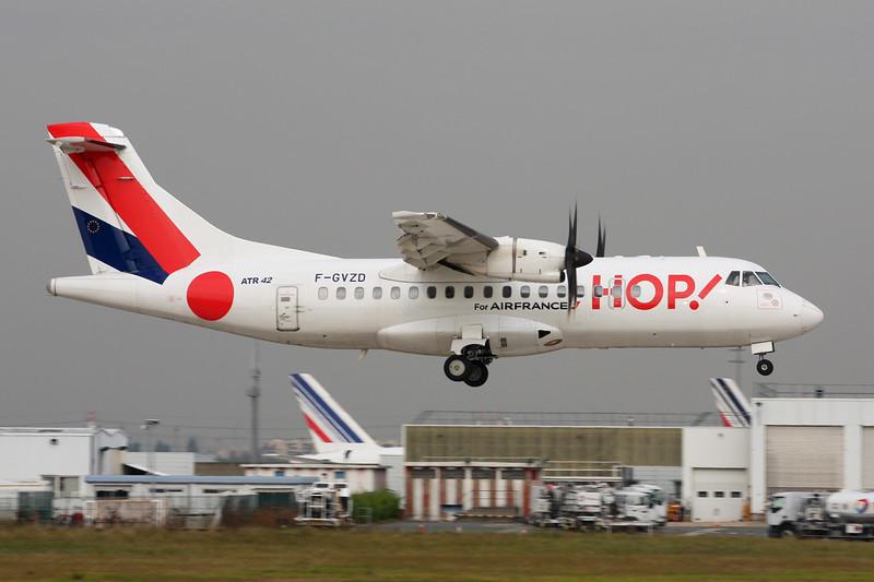 "F-GVZD Aeospatiale ATR-42-512 ""Airlinair"" c/n 530 Paris-Orly/LFPO/ORY 02-10-14 ""Hop!"""