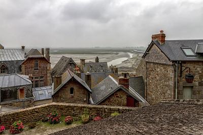 Mont Saint Michel - The Village & Low Tide