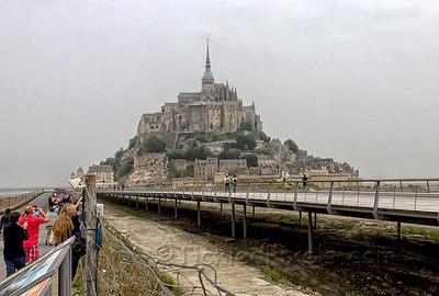 Approaching Mont Saint-Michel