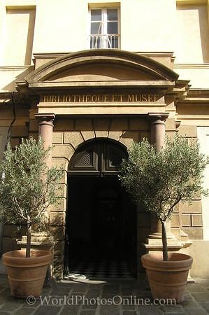 Ajaccio - Historical Library - Entrance