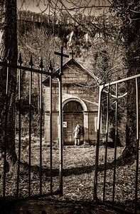 Intriguing abandoned chapel at Baume-les-Messieurs Village.