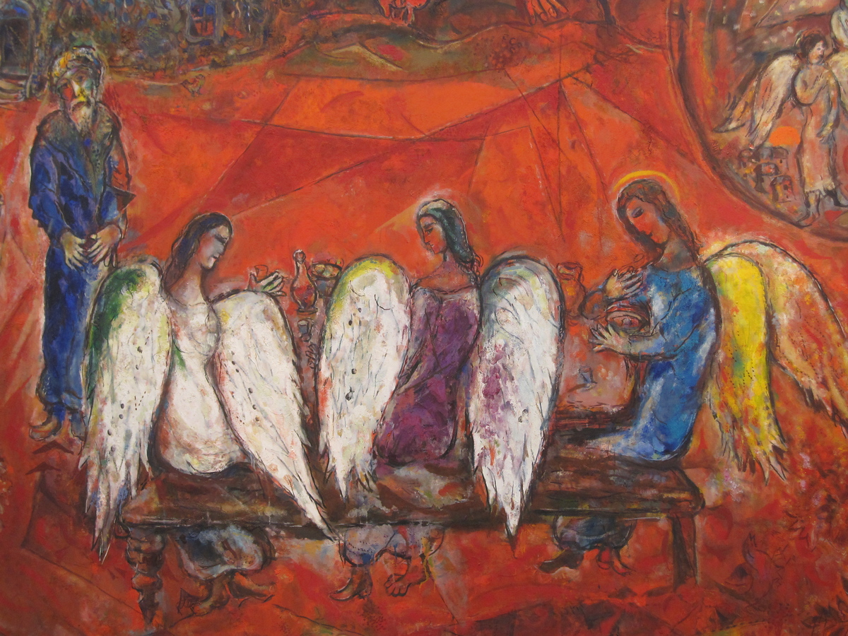Abraham and the Three Angels, Marc Chagall Museum, Nice, France