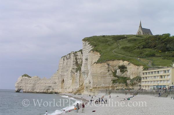 Etretat - Chalk Cliffs - 'Monet painted this scene'