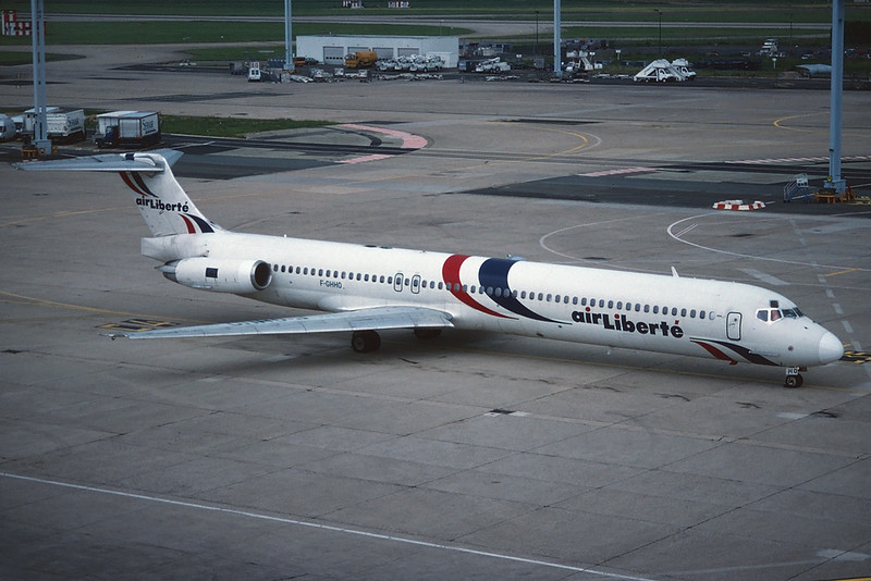 "F-GHHO Douglas MD-83 ""Air Liberte"" c/n 49985 Paris-Orly/LFPO/ORY 10-06-95 ""35mm slide"""