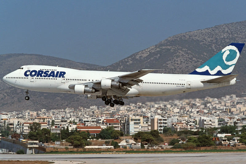 "F-GPJM Boeing 747-206B ""Corsair"" c/n 20427 Athens-Hellenikon/LGAT/ATH 22-09-00 (35mm slide)"
