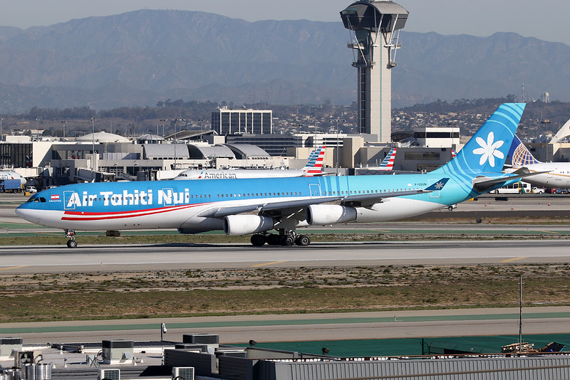 """F-OSUN Airbus A340-313X """"Air Tahiti Nui"""" c/n 446 Los Angeles/KLAX/LAX 26-01-18"""