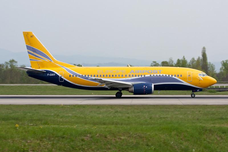 "F-GIXT Boeing 737-39MF ""Europe Airpost"" c/n 28898 Basle-Mulhouse/LFSB/BSL 23-04-10"