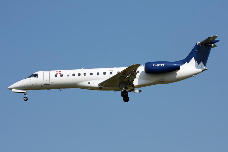 """F-GYPE Embraer ERJ-135LR """"Pan Europeene"""" c/n 145492 Brussels/EBBR/BRU 07-07-13"""