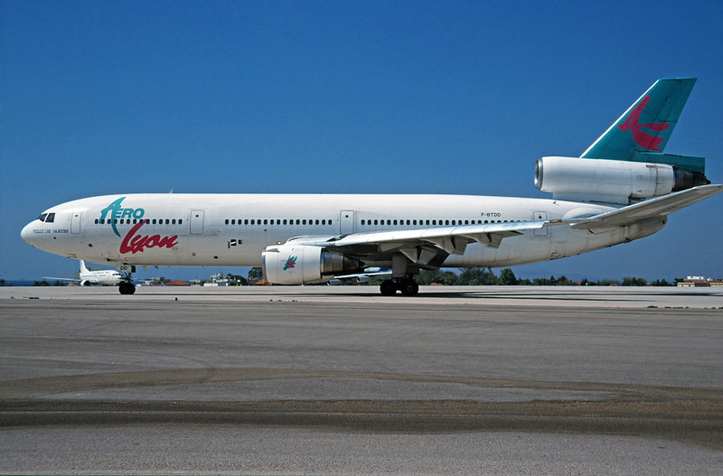 "F-BTDD Douglas DC-10-30 ""Aero Lyon"" c/n 46963 Athens-Hellenikon/LGAT/ATH 23-09-00 (35mm slide)"