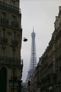Eiffel Tower and City Street, Paris