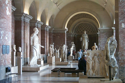 Greek Sclupture Room at the Louvre Museum in Paris, France