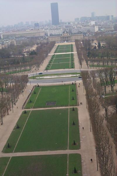 Champs de Mars from Eiffel Tower, Paris France