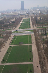 Champs de Mars from Eiffel Tower, Paris France