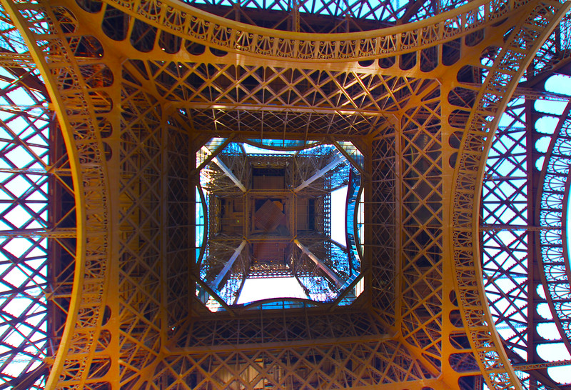 Paris France, View on Eiffel Tower from Below