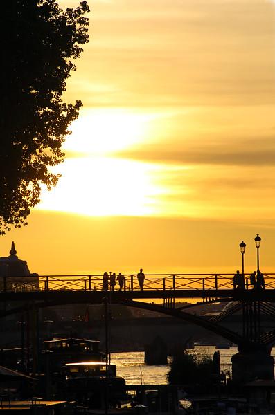 Paris France, Sunset Over the Seine