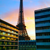 Paris France, View on Eiffel Tower from Pullman Hotel