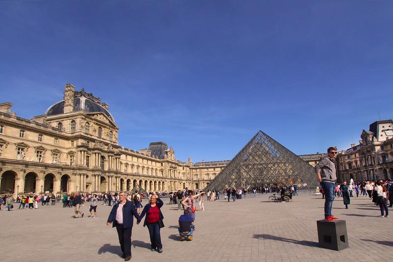 Paris France,  Louvre Museum Courtyard