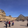 Paris France,  Louvre Museum Courtyard