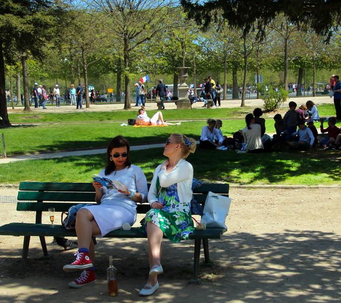 Paris France, Champ de Mars Park