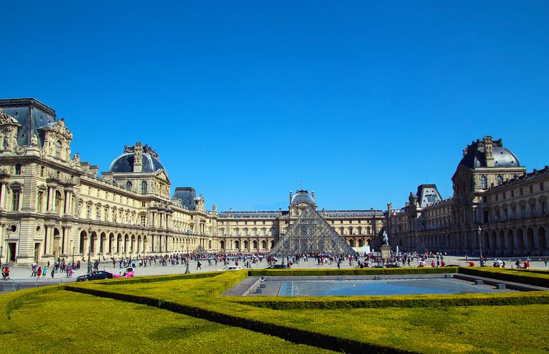 Paris France, View on The Louvre